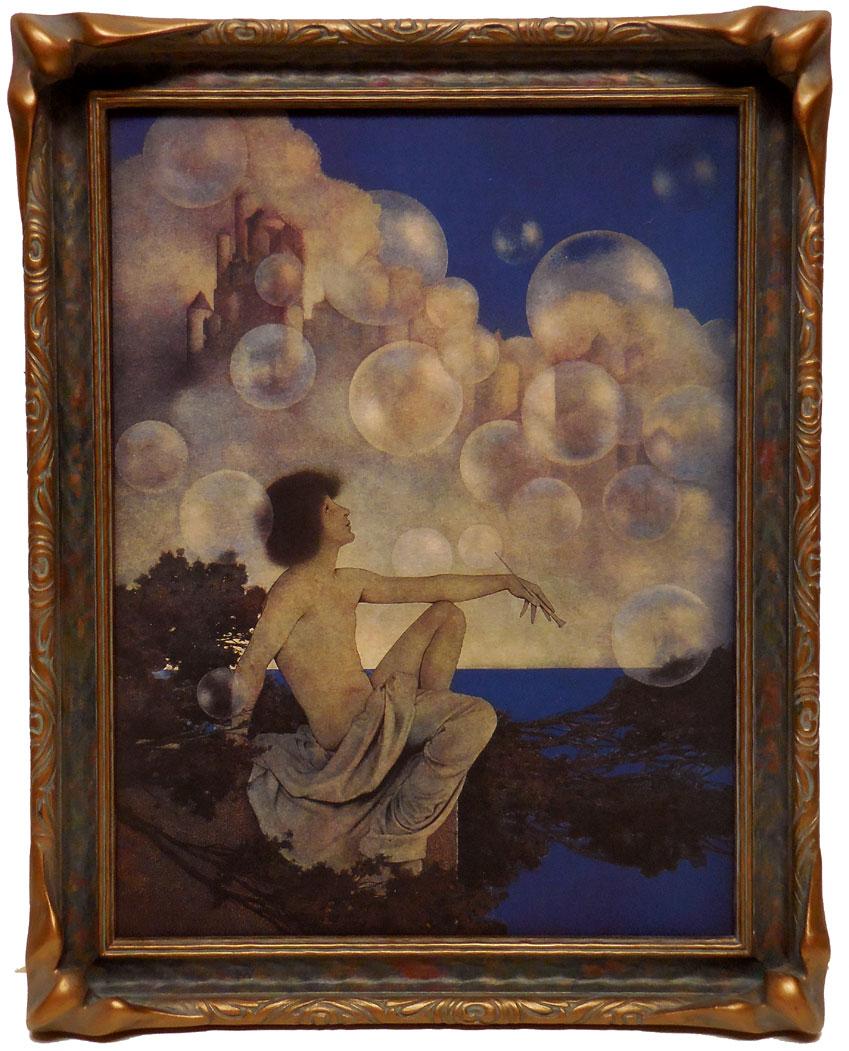 1922 Vintage Art Nouveau Poster Print Daybreak Maxfield Parrish