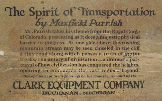 Spirt of Transportation 30x44 Hand Numbered Edition Maxfield Parrish Art